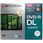 【あす楽対象】 三菱化学メディア 録画用DVD-R DL 2-8倍速 8.5GB 10枚【スリムケース / インクジェットプリンタ対応】 VHR21HP10D1-B 【ビックカメラグループオリジナル】[201609P]