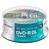 【あす楽対象】 三菱化学メディア 録画用DVD-R DL 2-8倍速 8.5GB 20枚【スピンドル / インクジェットプリンタ対応】 VHR21HP20SD1-B 【ビックカメラグループオリジナル】
