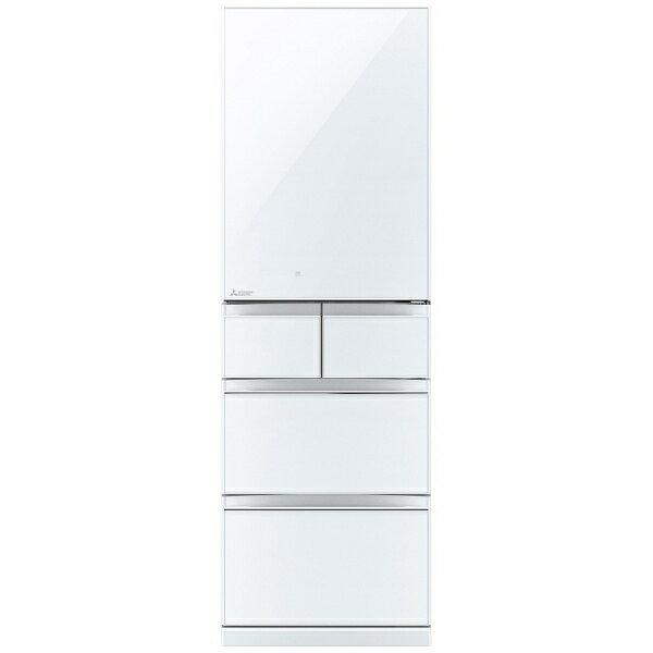 【標準設置費込み】 三菱 5ドア冷蔵庫 (455L) MR-B46A-W クリスタルピュアホワイト 「置けるスマート大容量 Bシリーズ」