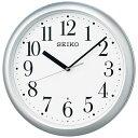 セイコー SEIKO 掛け時計 【スタンダード】 銀色メタリック KX218S [電波自動受信機能有...