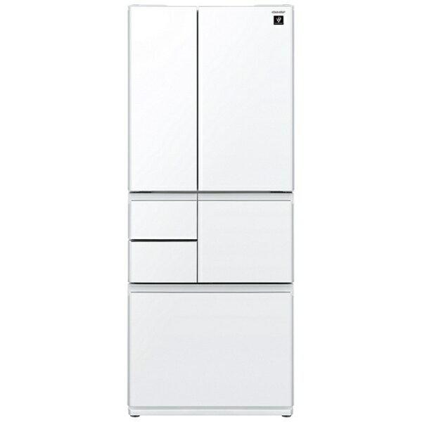 【標準設置費込み】 シャープ 6ドア冷蔵庫 (551L) SJ-GT55C-W ピュアホワイト 「GTシリーズ[メガフリーザー]」