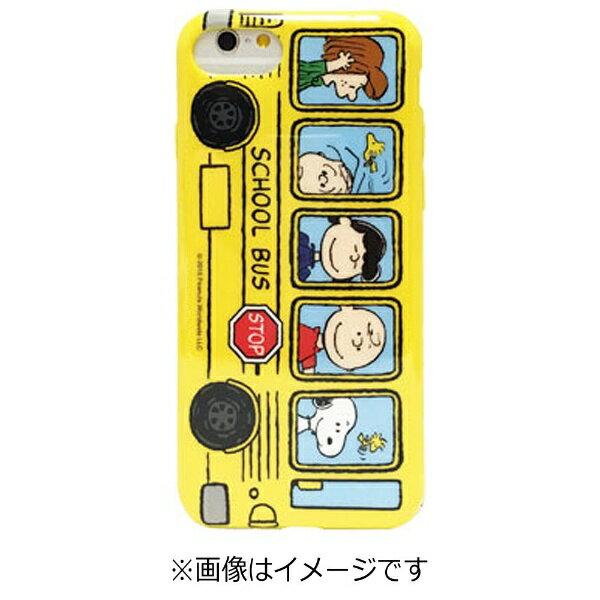 グルマンディーズ iPhone 7 Plus用 ピーナッツ ソフトケース バス SNG-165A