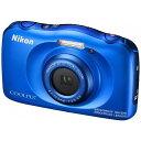 【あす楽対象】【送料無料】 ニコン コンパクトデジタルカメラ COOLPIX(クールピクス) W100(ブルー)