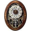 【送料無料】 リズム時計 電波からくり時計 「スモールワールドレガロ」 4MN546RH06