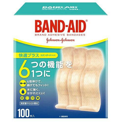 ジョンソン&ジョンソン Johnson&Johnson BAND-AID(バンドエイド) 快適プラス スタンダードサイズ 100枚 〔絆創膏〕