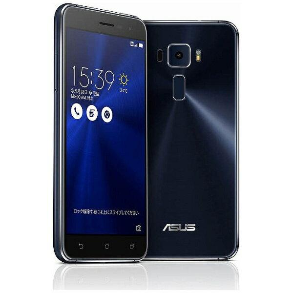 ASUS ZenFone3 Series サファイアブラック 「ZE520KL-BK32S3」 Android 6.0.1・5.2型・メモリ/ストレージ:3GB/32GB microSIM×1、nano×1 SIMフリースマートフォン