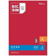 IIJ 【無料WiFi付】「BIC SIMタイプA」 音声通話+データ通信 au対応SIMカード IMB160 ※SIMカード後日発送[IMB160]【point_rb】
