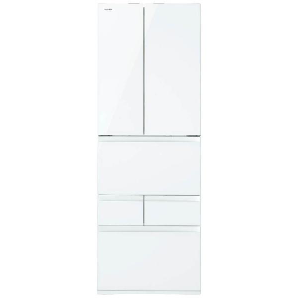 【標準設置費込み】 東芝 6ドア冷蔵庫 (462L) GR-K460FW-ZW クリアシェルホワイト 「べジータ FWシリーズ」
