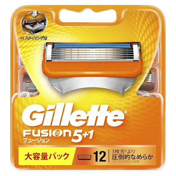 ジレット Gillette Gillette(ジレット) フュージョン 5+1 替刃 12個入 〔ひげそり〕