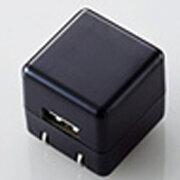エレコム オーディオ用AC充電器 CUBE/1A出力/USB1ポート(ブラック) AVA-ACUAN007BK