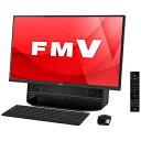 【送料無料】 富士通 27型デスクトップPC[TVチューナ・Office付き・Win10 Home・Core i7・HDD 3TB・メモリ 8GB] FMV ESPRIMO FH90/A3 オーシャンブラック FMVF90A3B (2016年秋冬モデル)