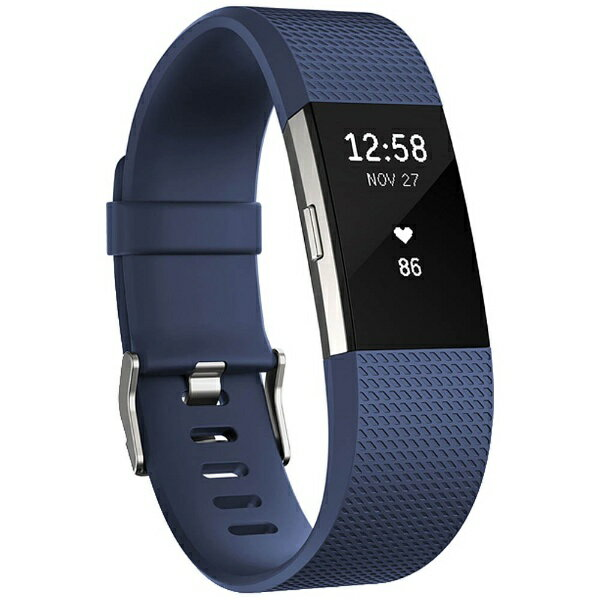 【あす楽対象】【送料無料】 FITBIT ウェアラブル端末 心拍計+フィットネスリストバンド 「Fitbit Charge 2」 Lサイズ FB407SBUL-JPN Blue