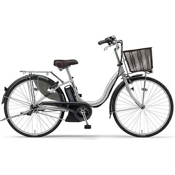 【送料無料】 ヤマハ YAMAHA 24型 電動アシスト自転車 PAS ナチュラM(シルバー/内装3段変速) PA24NM【2017年モデル】【組立商品につき返品】 【配送】【メーカー直送・・時間指定・返品】