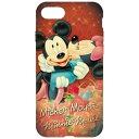 樂天商城 - グルマンディーズ iPhone 7用 ディズニー オーバーレイシリーズ ソフトケース ミッキー&ミニー DN-397A