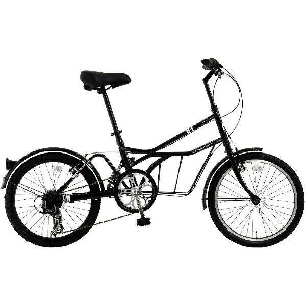 【送料無料】 DOPPEL GANGER 20型 自転車 330C ROADYACHT(シャ・ノワール/7段変速) 330CBK【組立商品につき返品】 【配送】【メーカー直送・・時間指定・返品】