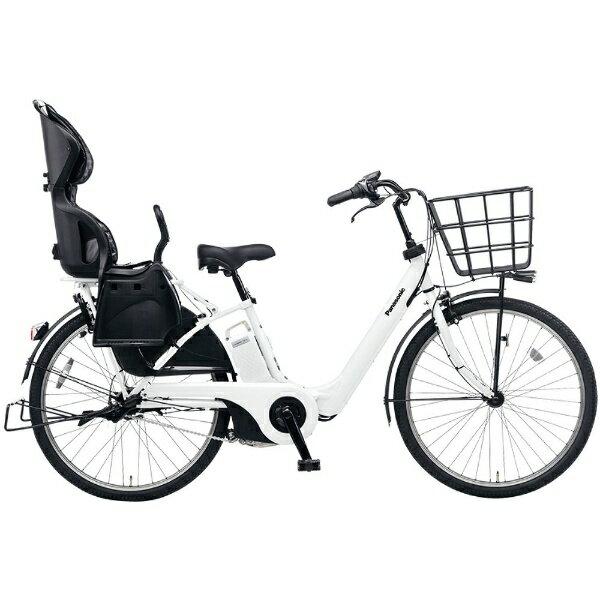 【送料無料】 パナソニック 26型 電動アシスト自転車 ギュット・アニーズ・F・DX(アクティブホワイト/内装3段変速) BE-ELMA632F2【2017年モデル】【組立商品につき返品】 【配送】