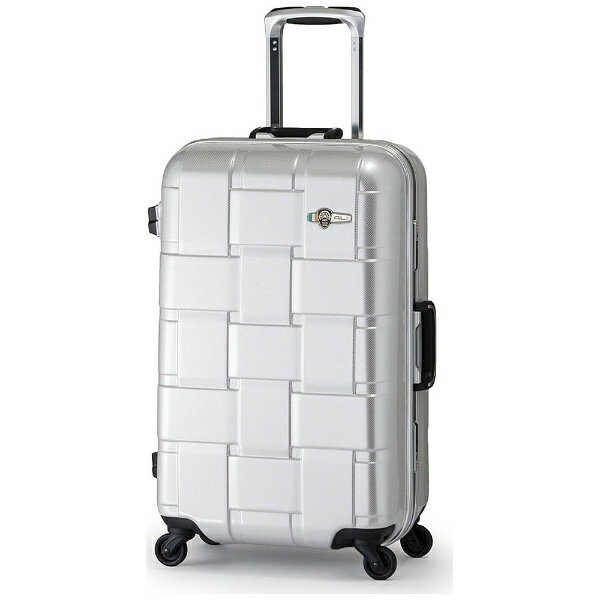 【送料無料】 A.L.I TSAロック搭載スーツケース(56L) ALI-1424 カーボンホワイト 【メーカー直送・代金引換不可・時間指定・返品不可】