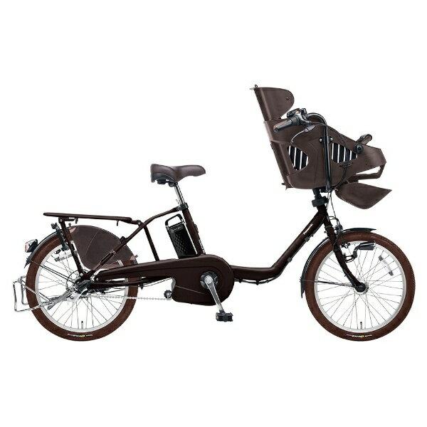 【送料無料】 パナソニック 20型 電動アシスト自転車 ギュット・ミニ・EX(マットダークブラウン/内装3段変速) BE-ELM03T【2017年モデル】【組立商品につき返品】 【配送】