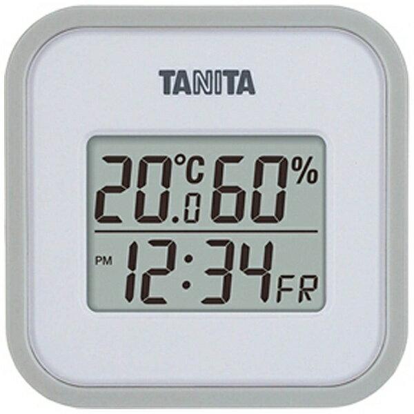 タニタ デジタル温湿度計 TT-558-GY グレー[TT558]の写真