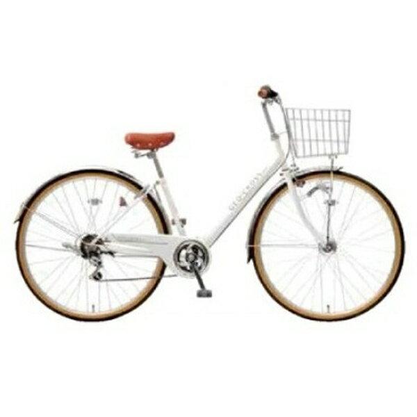【送料無料】 アサヒサイクル 27型 自転車 ジオクロスプラス(ホワイト/6段変速) FV76BF【2017年モデル】【組立商品につき返品】 【配送】【メーカー直送・・時間指定・返品】