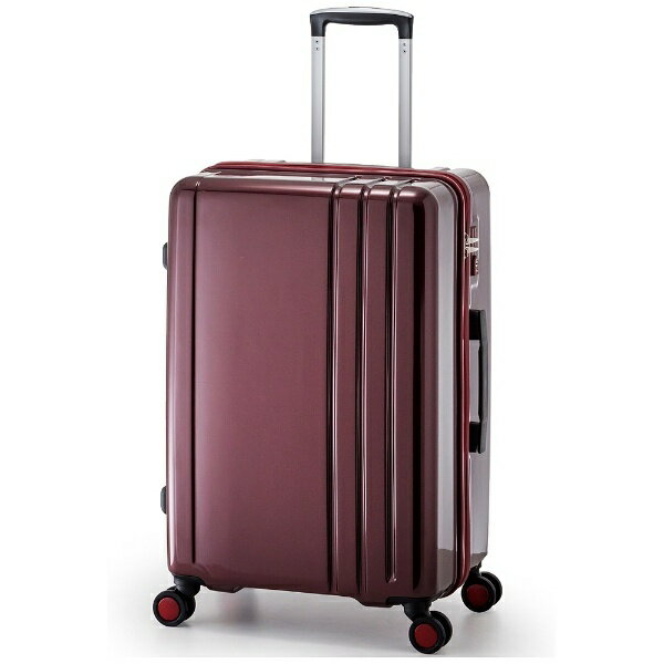 【送料無料】 A.L.I TSAロック搭載スーツケース RUNWAY(60L) BC1002 ワイン【ビックカメラグループオリジナル】
