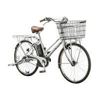 【送料無料】 パナソニック 26型 電動アシスト自転車 ビジネスビビ・S(モダンシルバー/内装2段変速) BE-ELGS62S【組立商品につき返品不可】 【代金引換配送不可】の画像