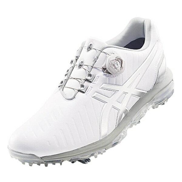【送料無料】 アシックス メンズ ゴルフシューズ GEL-ACE PRO 3 Boa(25.0cm/ホワイト×シルバー) TGN919_0193