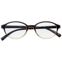 名古屋眼鏡 シニアグラス ライブラリー 4480(ブラッククリアボストン/+3.50)