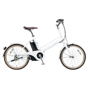 【送料無料】 パナソニック 20型 電動アシスト自転車 Jコンセプト(クリスタルホワイト/シングルシフト) BE-JELJ01F【2017年モデル】【組立商品につき返品不可】 【代金引換配送不可】