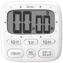 ドリテック 時計付キッチンタイマー T-566WT ホワイト