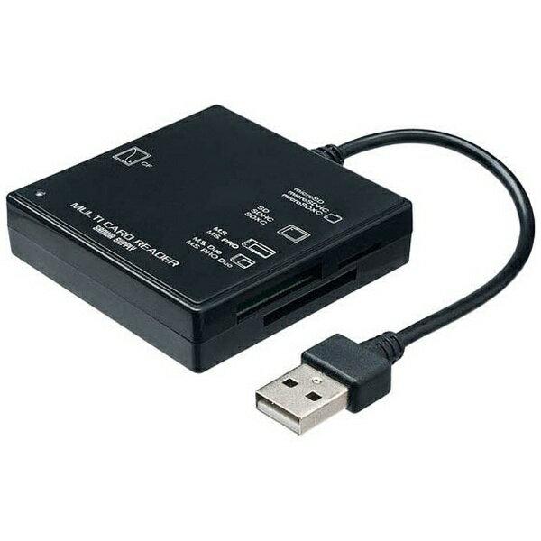 サンワサプライ USB2.0 カードリーダー(ブラック) ADRML23BK