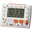 リズム時計 RHYTHM 電波目覚まし時計 「ミッフィーR126」 8RZ126MM03