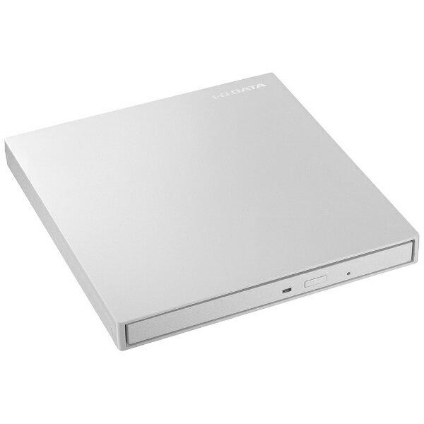 I-O DATA アイ・オー・データ USB-C対応 ポータブルDVDドライブ[USB 3.1・Mac/Win] ホワイト DVRP-UT8C2W[DVRPUT8C2W]