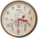 リズム時計 RHYTHM 掛け時計 「スヌーピー」 8MGA40-M06