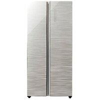 【標準設置費込み】 AQUA 2ドア冷蔵庫 (449L) AQR-SBS45F-S ヘアラインシルバー 「パノラマ・オープン」[AQRSBS45F_S]