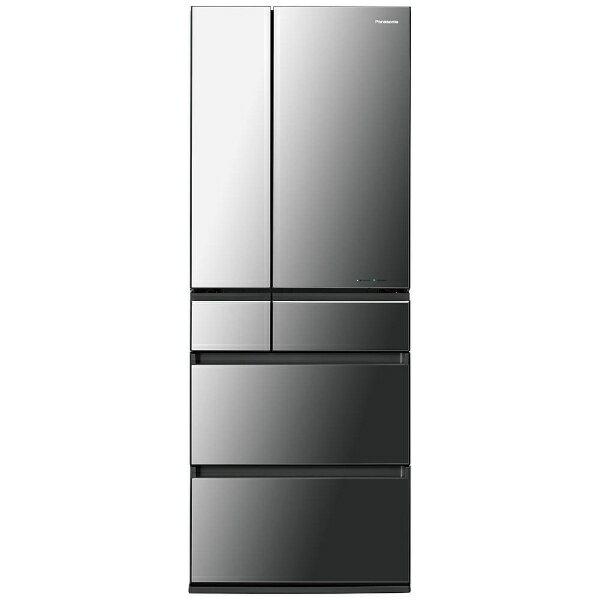 【標準設置費込み】 パナソニック Panasonic NR-F553HPX-X 冷蔵庫 HPXタイプ オニキスミラー [6ドア /観音開きタイプ /550L][NRF553HPX_X] panasonic