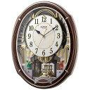 リズム時計 RHYTHM 電波からくり時計 「スモールワール...
