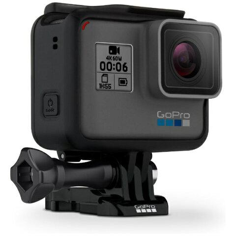 【送料無料】 GOPRO マイクロSD対応 4Kムービー ウェアラブルカメラ GoPro(ゴープロ) HERO6 Black ブラックエディション CHDHX-601-FW[CHDHX601FW]