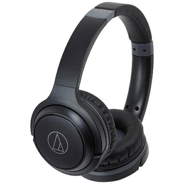 オーディオテクニカ ブルートゥースヘッドホン ATH-S200BT BK ブラック [Bluetooth]