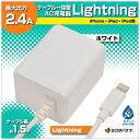 ラスタバナナ iPad / iPad mini / iPhone / iPod対応[Lightning] iPhone/iPad用充電器 2.4A (1.5m・ホワイト) MFi認証 RBMFI066