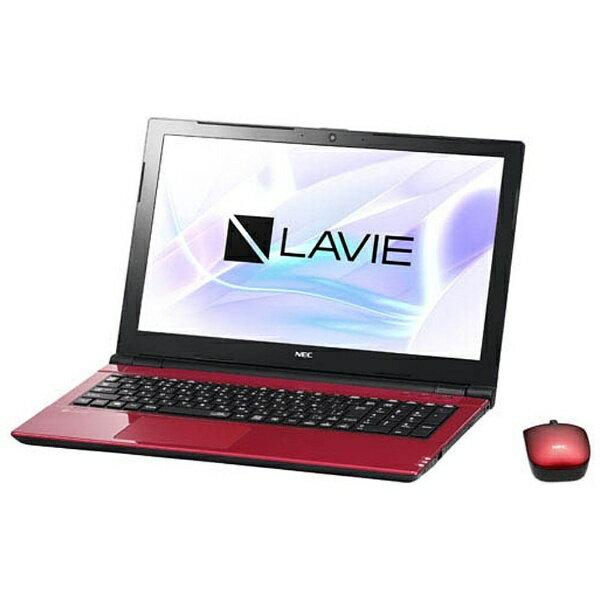 【送料無料】 NEC 【4時間限定 1500円クーポン 6/25 20:00 〜 23:59】15.6型ワイドノートPC LAVIE Note Standard[Office付き・Win10]PC-NS700JAR(2017年10月モデル・ルミナスレッド)[PCNS700JAR]