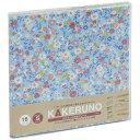ナカバヤシ ファブリックスタイル ブック式 かける~の台紙 スクエアS カラフルフラワー(ブルー) アKSFB135B
