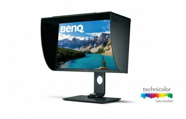 BenQ ベンキュー 27型ワイド フリッカーフリー HDR対応 3840x2160(4K) カラーマネージメント液晶ディスプレイ SW271 グレー[SW271]