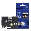 ブラザー brother ピータッチ(P-touch) おしゃれテープ(マットブラック(つや消し)/白文字/24mm幅) TZe-MQ355 TZe-MQ355