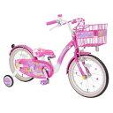 アイデス 18型 幼児用自転車 Poppin' Ribbon(ミニーマウスデザイン/ピンク) 【代金引換配送不可】【メーカー直送 代金引換不可 時間指定 返品不可】