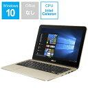 【送料無料】 ASUS Vivo Book Flip12 11.6型タッチ対応ノートPC[Win10 Home Celeron eMMC 64GB メモリ 4GB] TP203NA-GOLD シマリングゴールド