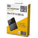 WESTERN DIGITAL ウェスタン デジタル WDBP6A0040BBK-JESE 外付けHDD My Passport for Mac ブラック ポータブル型 /4TB WDBP6A0040BBKJESE