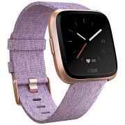 FITBIT Fitbit フィットビット スマートウォッチ Versaスペシャルエディション Lavender Woven L/Sサイズ FB505RGLV-CJK ラベンダー/ローズゴールド[FB505RGLVCJK]