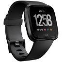 FITBIT Fitbit フィットビット スマートウォッチ Versa Black/Black Aluminium L/Sサイズ FB505GMBK-CJK ブラック/ブラックアルミニウム