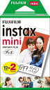 富士フイルム FUJIFILM チェキ インスタントフィルム カラー instax mini [10枚 /2パック][チェキ用フィルム20枚 INSTAXMINIJP2]